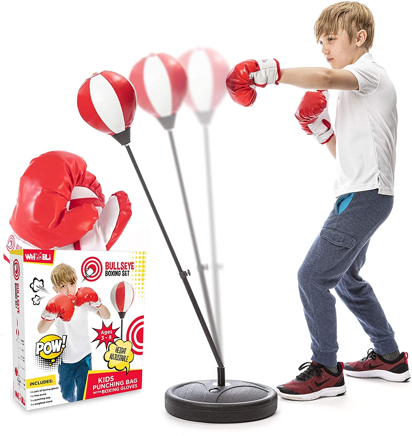 Review of Whoobli Punching Bag for Kids Incl Boxing Gloves