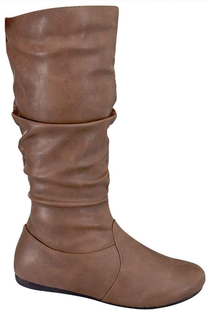 Review of Womens Slouchy Boots Soft Low Heel Under Knee High