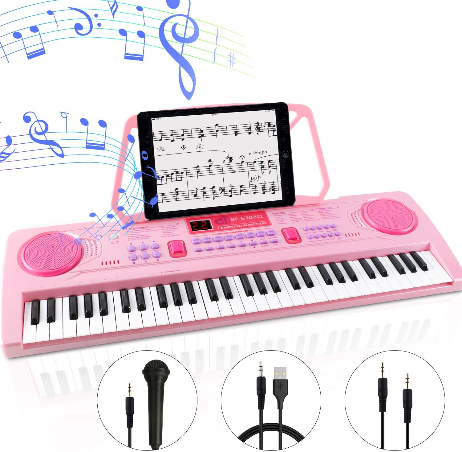 WOSTOO Electric Keyboard Piano for Kids-Portable 61 Key