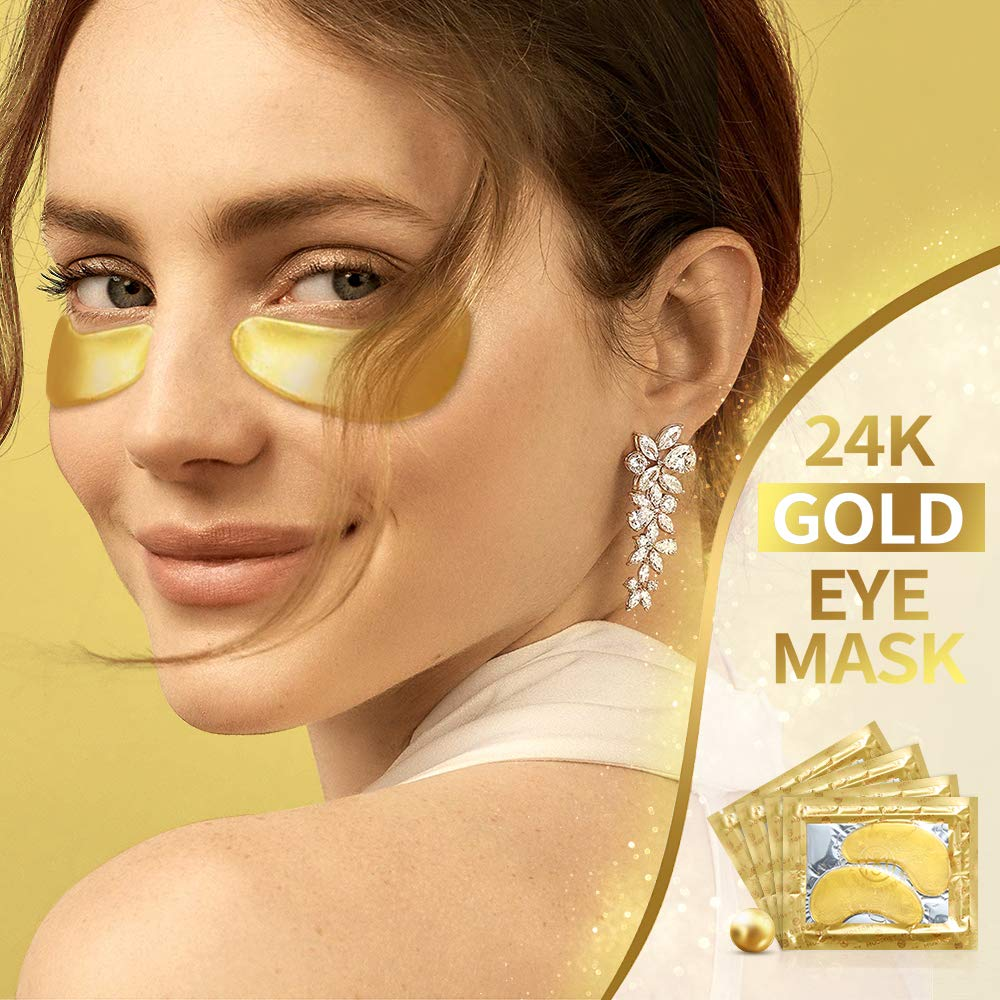 24K Gold Under Eye Mask - Eye Patches Treatment for Puffy Eyes