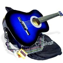 Review of 38 BLUE Student Acoustic Guitar Starter Package