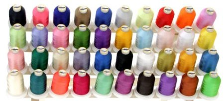 Review of 40 Large Spools Embroidery Machine Thread for Brother With Thread Locking Spool