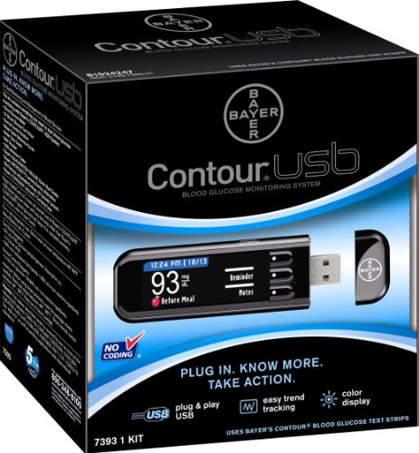 Bayer 7393 Contour USB Blood Glucose Monitoring System