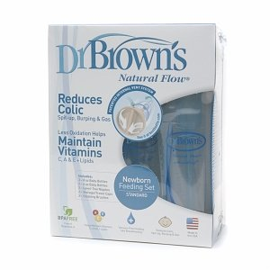 Review of Dr. Brown's BPA Free Polypropylene Natural Flow Bottle Newborn Feeding Set