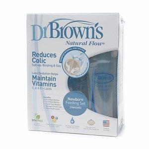 Dr. Brown's BPA Free Polypropylene Natural Flow Bottle Newborn Feeding Set