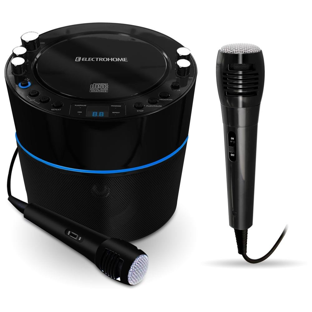 Review of Electrohome EAKAR300 Karaoke CD+G Player Speaker System with MP3 and 2 Microphone Inputs