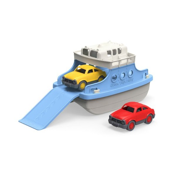Review of Green Toys Ferry Boat with Mini Cars Bathtub Toy, Blue/White