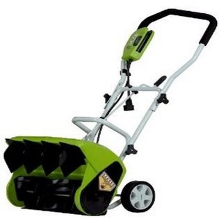 Review of GreenWorks Corded Electic Snow Thrower -  10 Amp 16