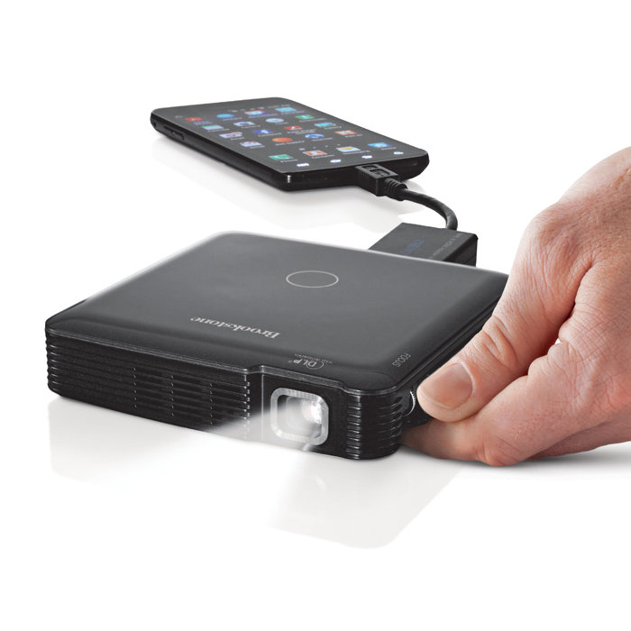 Review of HDMI Pocket Projector from Brookstone