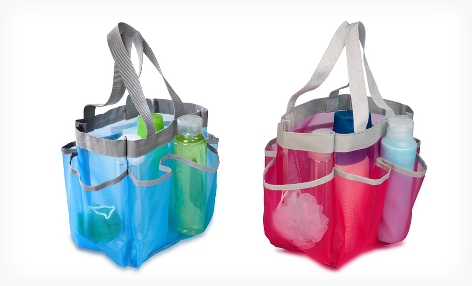 Honey-Can-Do Quick Dry Shower Tote (Blue or Red)