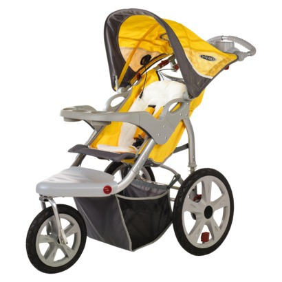 Review of InStep Grand Safari Swivel Wheel Jogger (Gray/Yellow, Tan/Pink and Yellow/Gray Colors)