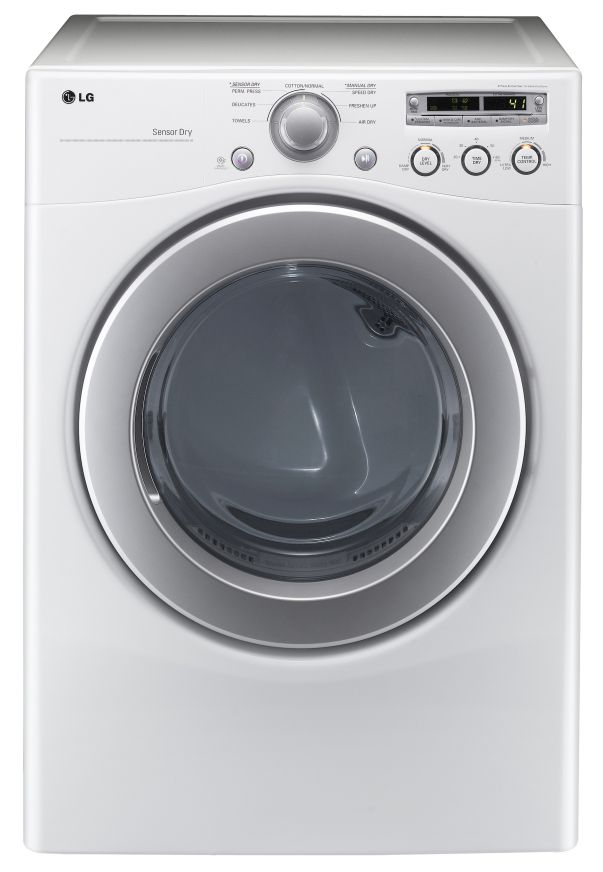 LG Electronics 7.1 cu. ft. Electric Dryer in White (Model: DLE2250W)