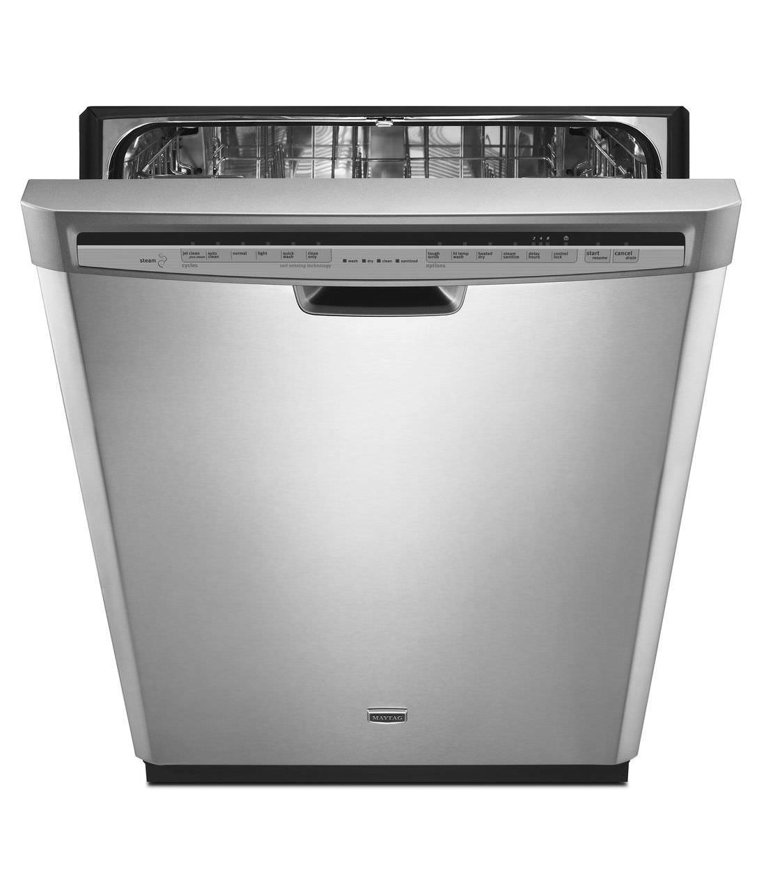 Maytag JetClean Plus Front Control Dishwasher with Steam Cleaning (Model: MDB7749SBM)