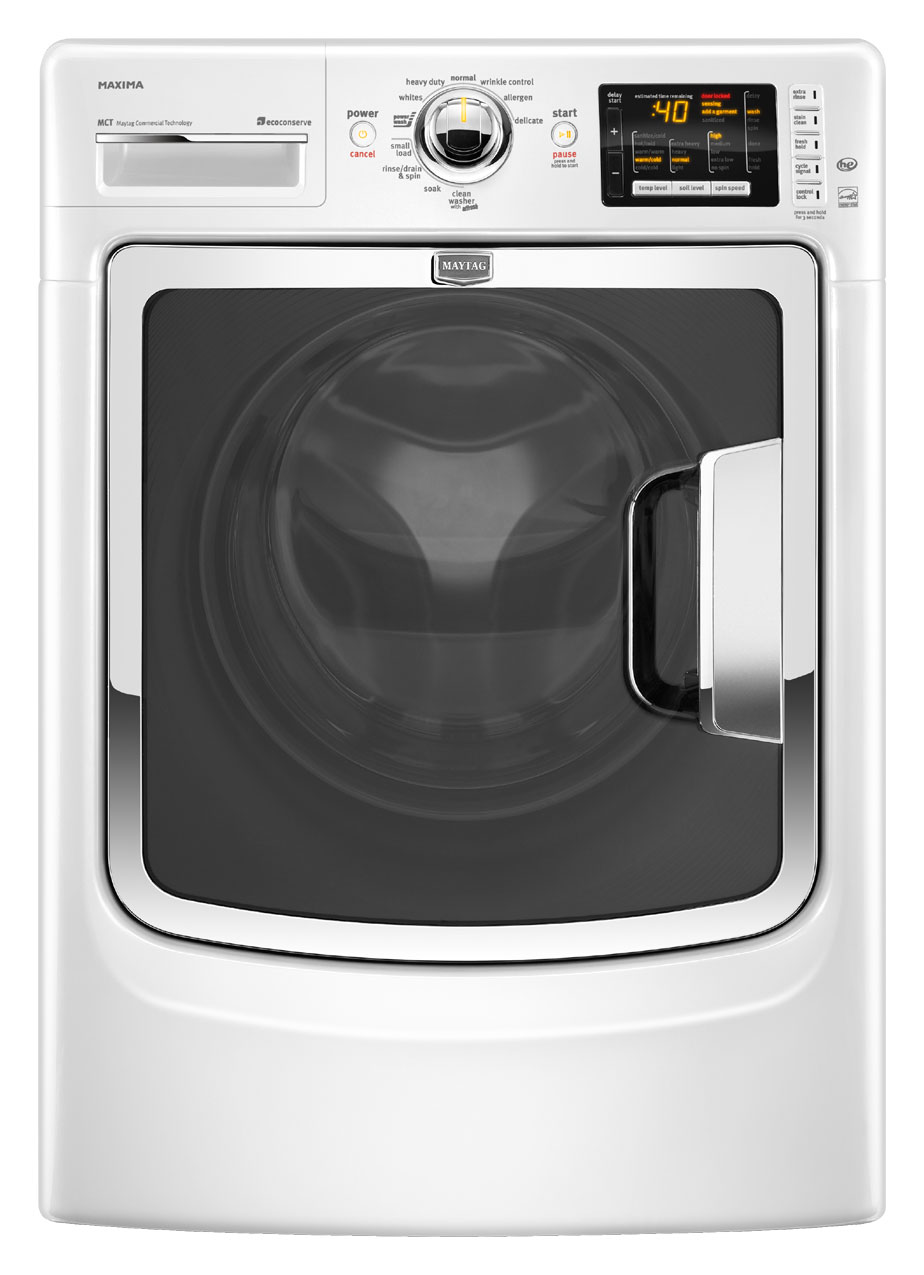 Review of Maytag Maxima 4.3 cu ft High-Efficiency Front-Load Washer (Model: MHW6000XW)