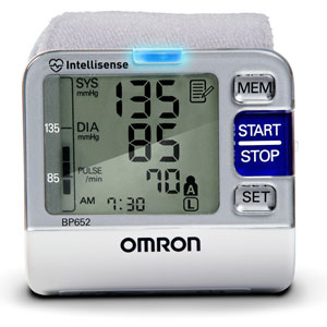 Review of Omron BP652 7 Series Blood Pressure Wrist Unit