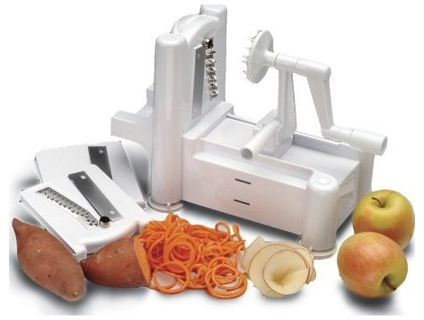 Review of Paderno World Cuisine A4982799 Tri-Blade Plastic Spiral Vegetable Slicer