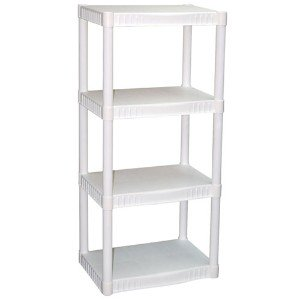 Review of - Plano 4-Tier Heavy-Duty Plastic Shelves, White