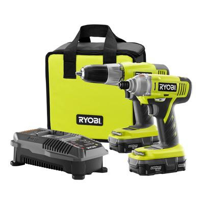 Ryobi ONE+ 18-Volt Lithium-Ion Drill and Impact Driver Combo Kit (Model: P882)