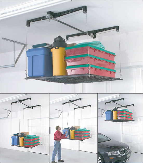 Review of Racor PHL-1R Pro HeavyLift 4-by-4-Foot Cable-Lifted Storage Rack