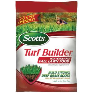 Review of Scotts 5,000 sq. ft. Turf Builder WinterGuard Fall Lawn Fertilizer (Model: 38605A)