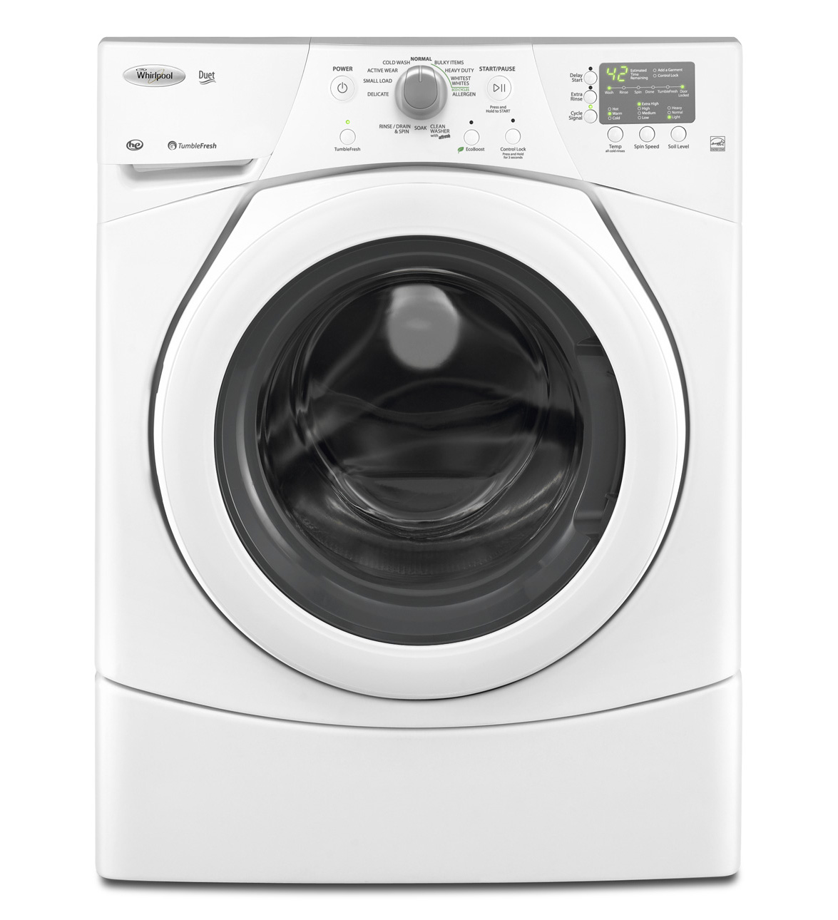 Whirlpool Duet 3.5 cu. ft. High-Efficiency Front Load Washer in White (Model: WFW9151YW)