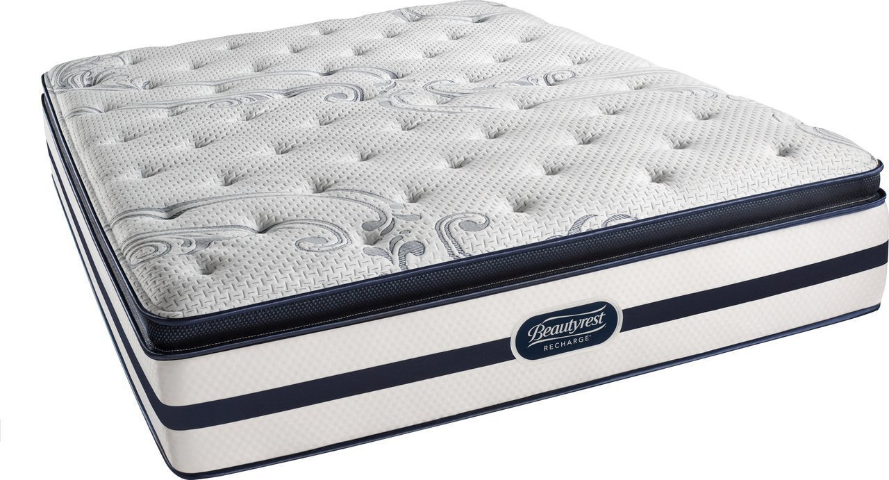 Review of Beautyrest Recharge Simmons Luxury Firm Pillow Top Mattress, Queen, Pocketed Coil, Air-Cool Gel Memory Foam, Silver