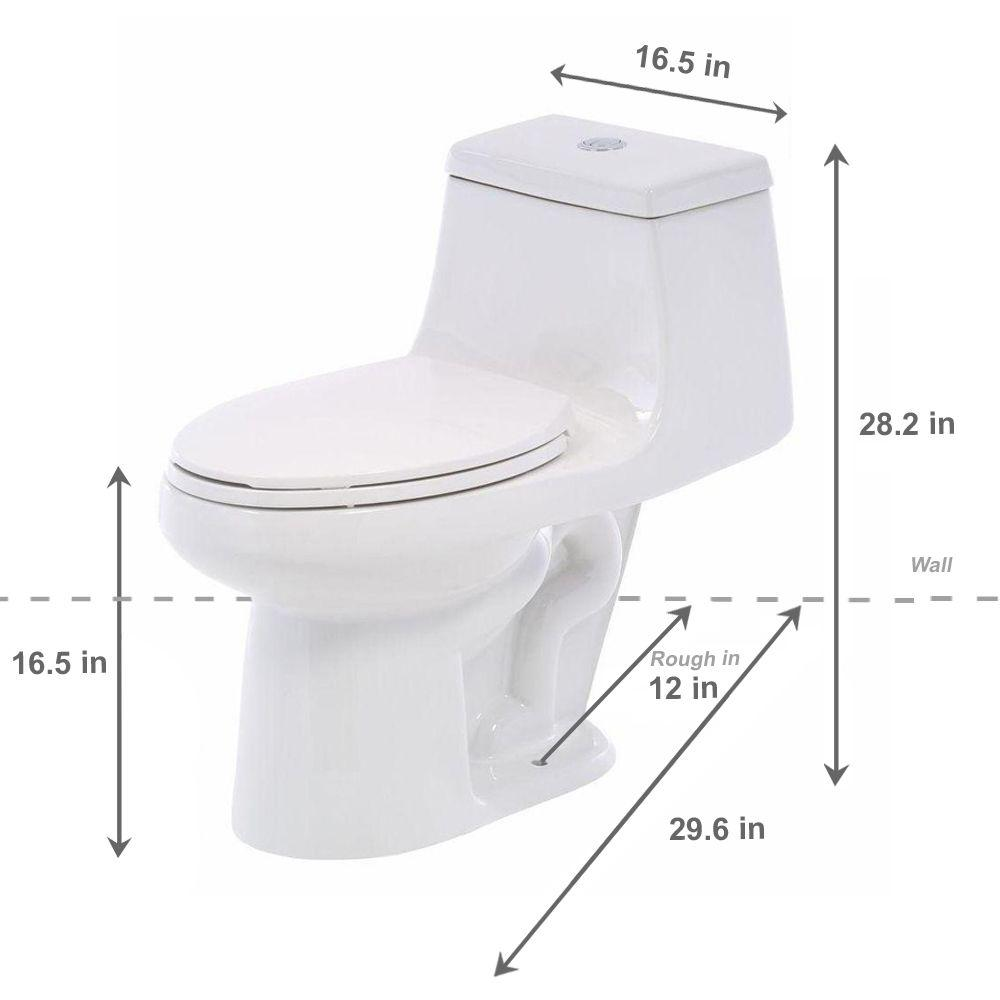 Review of Best Seller Glacier Bay 1-Piece 1.1 GPF/1.6 GPF High Efficiency Dual Flush Elongated All-in-One Toilet