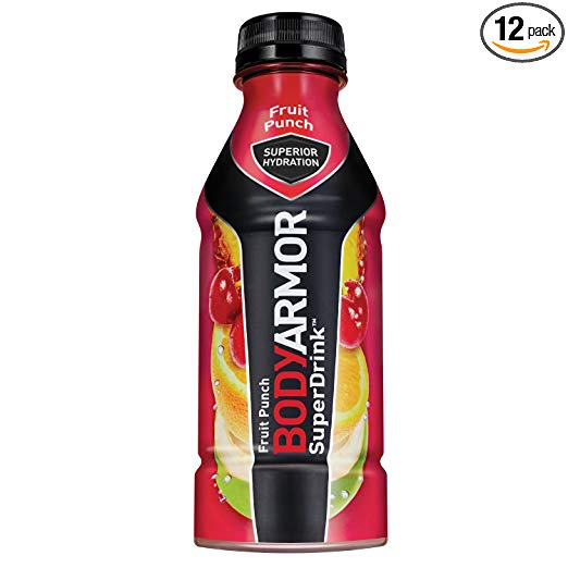 BODYARMOR Sports Drink Sports Beverage, Fruit Punch, 16 Fl Oz (Pack of 12)