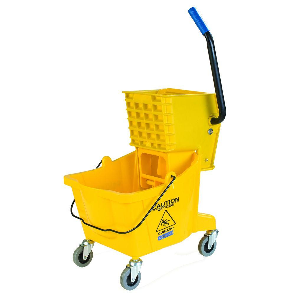 Carlisle 26 qt. Yellow Mop Bucket/Wringer Combo