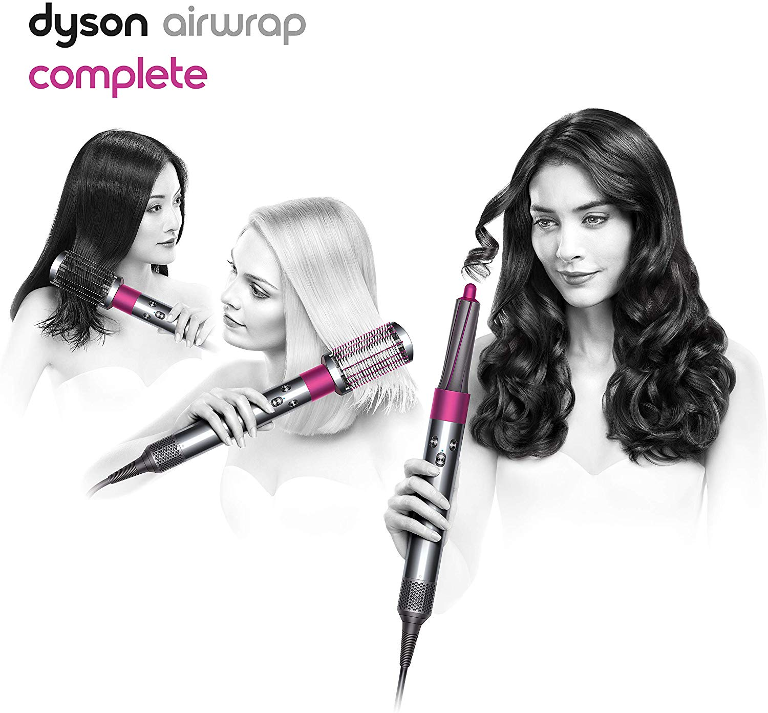 Review of Dyson Airwrap Complete Styler for Multiple Hair Types and Styles, Fuchsia