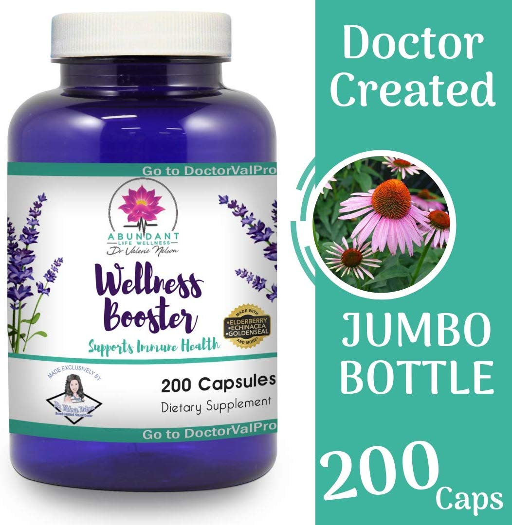 Review of Echinacea Elderberry Goldenseal & More - 200 Caps - Wellness Boosters - by Dr. Valerie Nelson