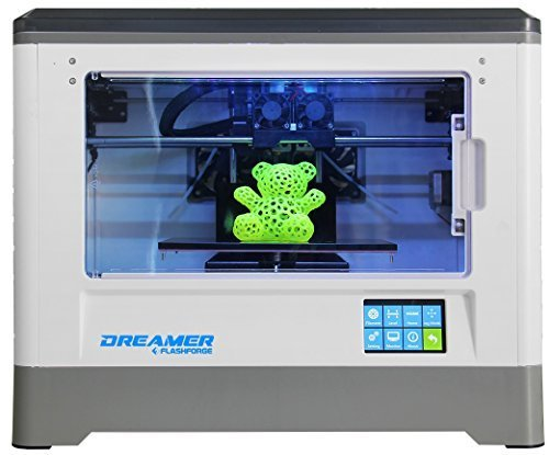 Review of Flashforge Dreamer 3d Printer, Dual Extruder, Fully Enclosed Chamber, W/2 Free Spools