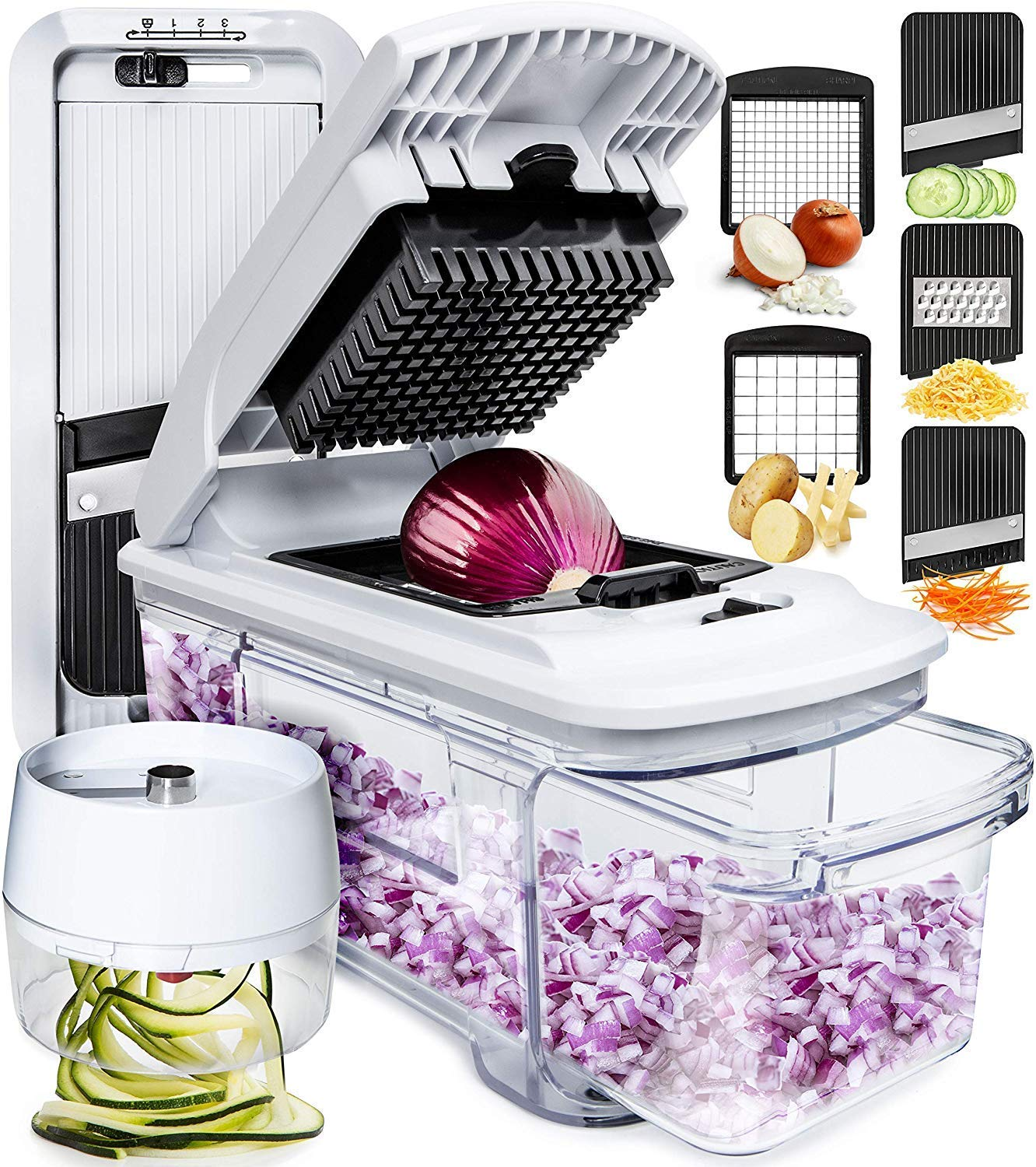 Review of Fullstar Mandoline Slicer Spiralizer Vegetable Slicer and Vegetable Chopper