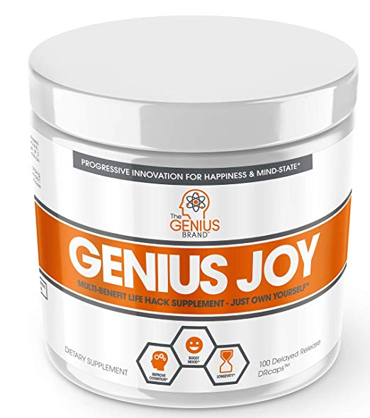 Review of Genius Joy - Serotonin Mood Booster for Anxiety Relief, Wellness & Brain Support