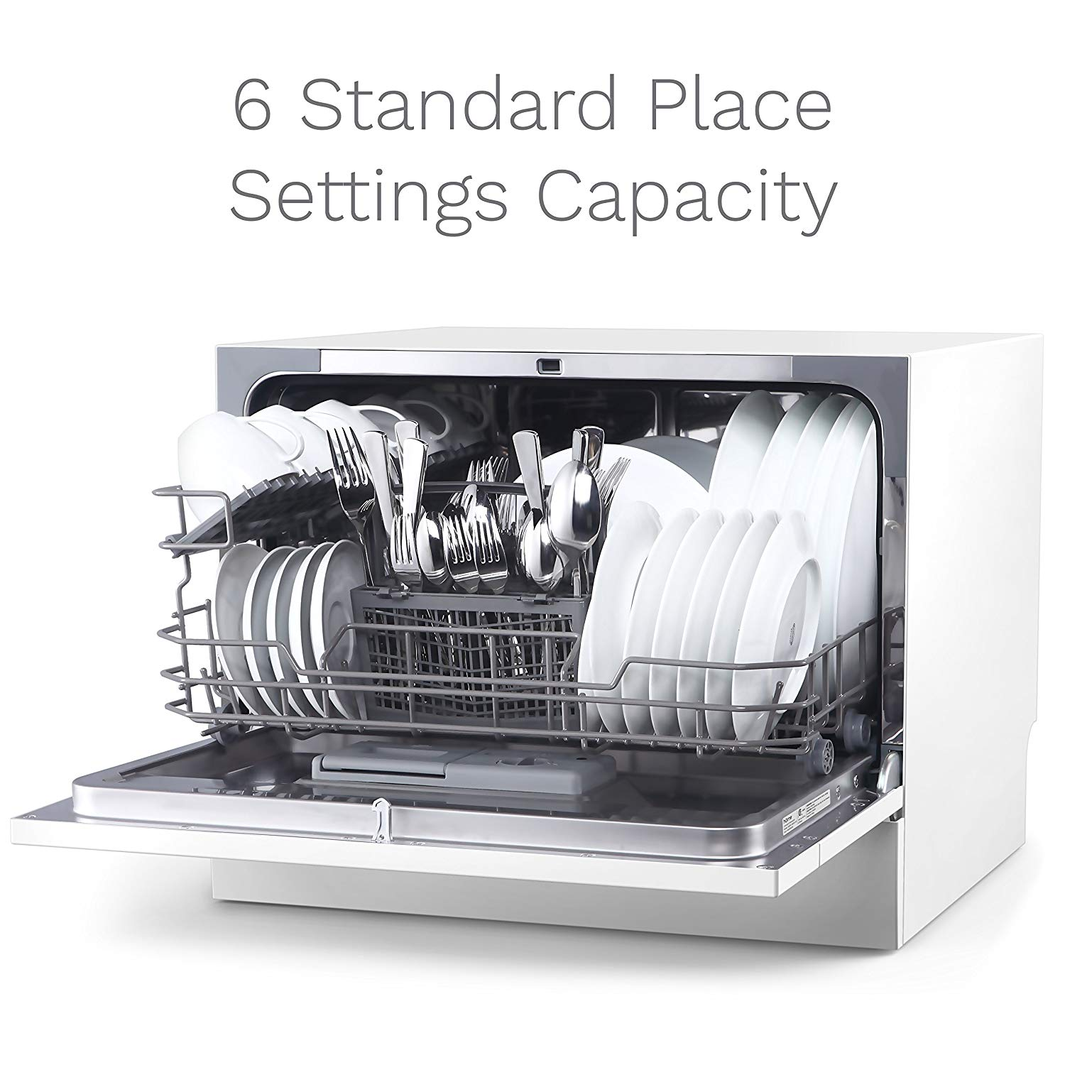 Review of hOmeLabs Compact Countertop Dishwasher - Energy Star Portable Mini Dish Washer