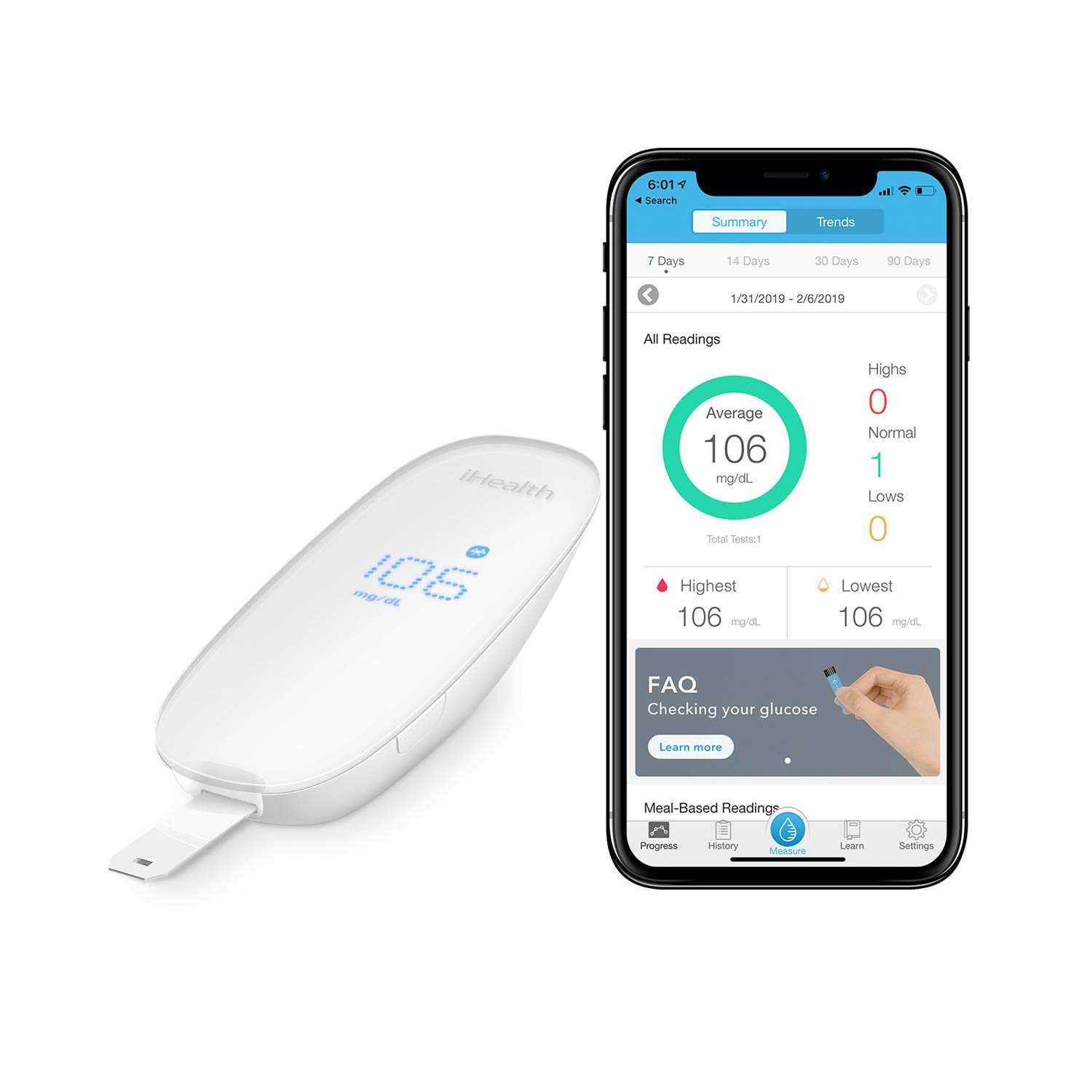 Review of iHealth Wireless Smart Blood Sugar Test Kit for Apple and Android