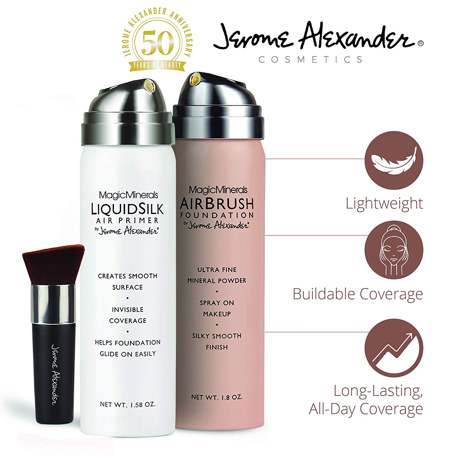 Review of Jerome Alexander Airbrush Foundation (3 Piece Set, Light)