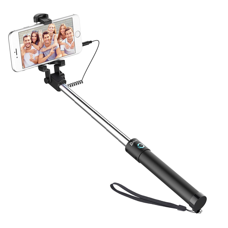 Review of JETech Battery Free Selfie Stick Extendable Cable Control Self-portrait Monopod Pole