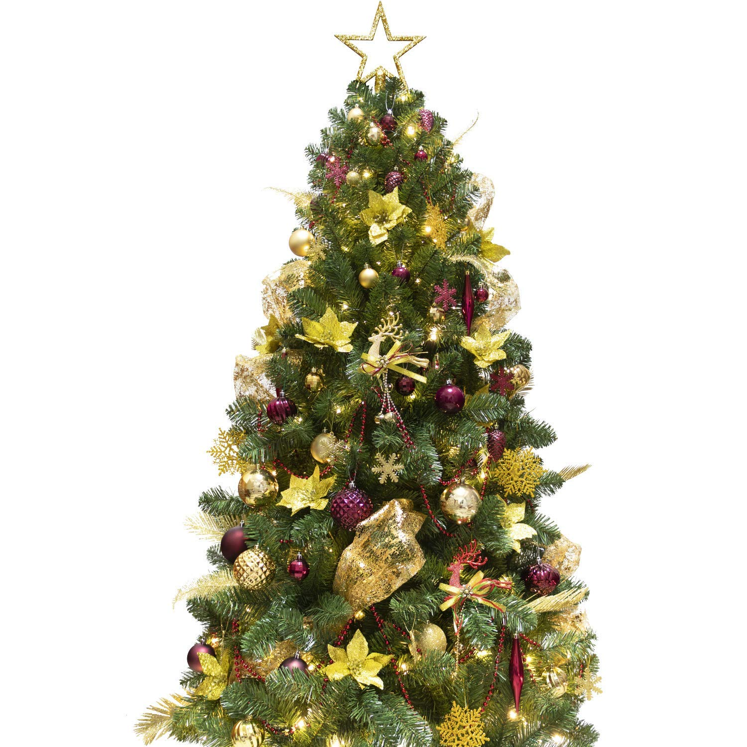 Review of - KI Store Artificial Christmas Tree with Decoration Ornaments