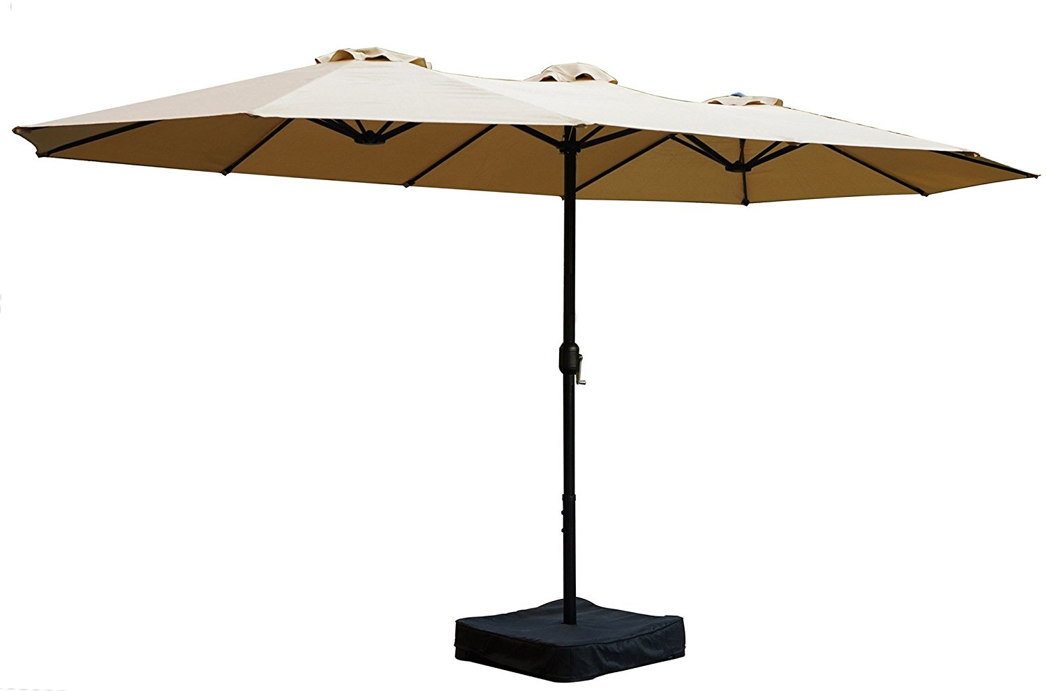 Review of Kozyard Butterfly 14' Outdoor Patio Double-Sided Aluminum Umbrella (with Crank and Base)