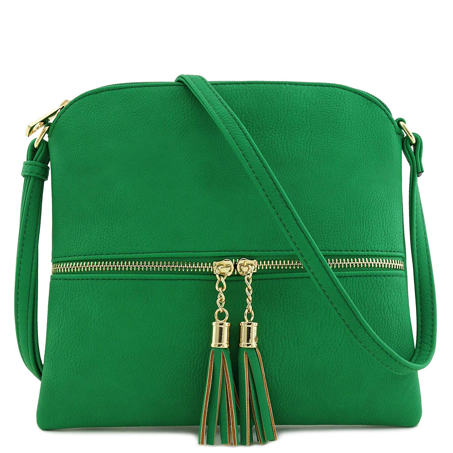 Review of Lightweight Medium Crossbody Bag with Tassel by Deluxity
