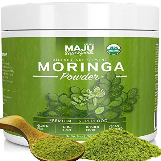 MAJU's Organic Moringa Powder: NON-GMO