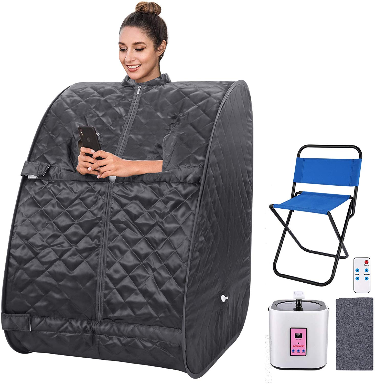 Review of OppsDecor Portable Steam Sauna Spa,One Person Sauna with Remote Control