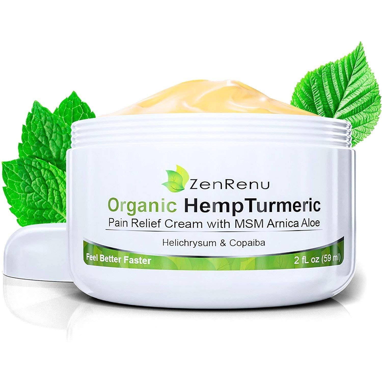 Organic Hemp Pain Relief Cream by ZenRenu