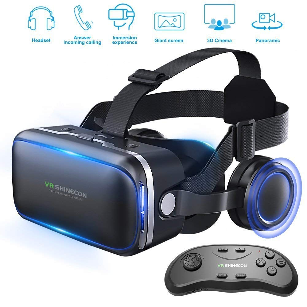 Review of Pansonite Vr Headset with Remote Controller, 3d Glasses Virtual Reality Headset for VR Games