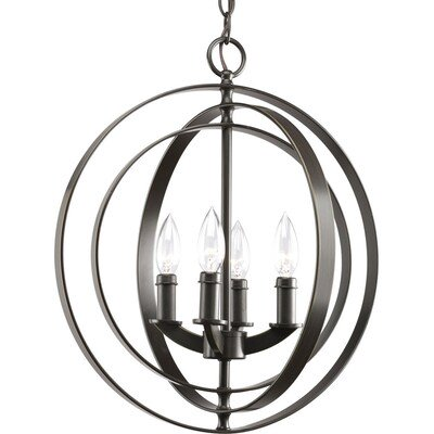 Review of Progress Lighting Equinox 4-Light Antique Bronze Transitional Globe Chandelier