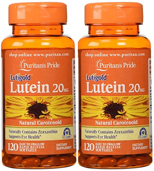 Review of Puritan's Pride 2-pack of Lutein 20 Mg with Zeaxanthin-120 Softgels (240 Total)