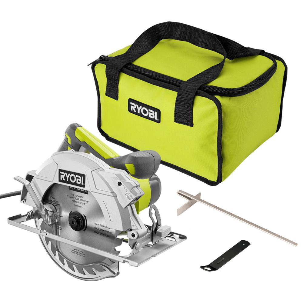 RYOBI 15 Amp Corded 7-1/4 in. Circular Saw with EXACTLINE