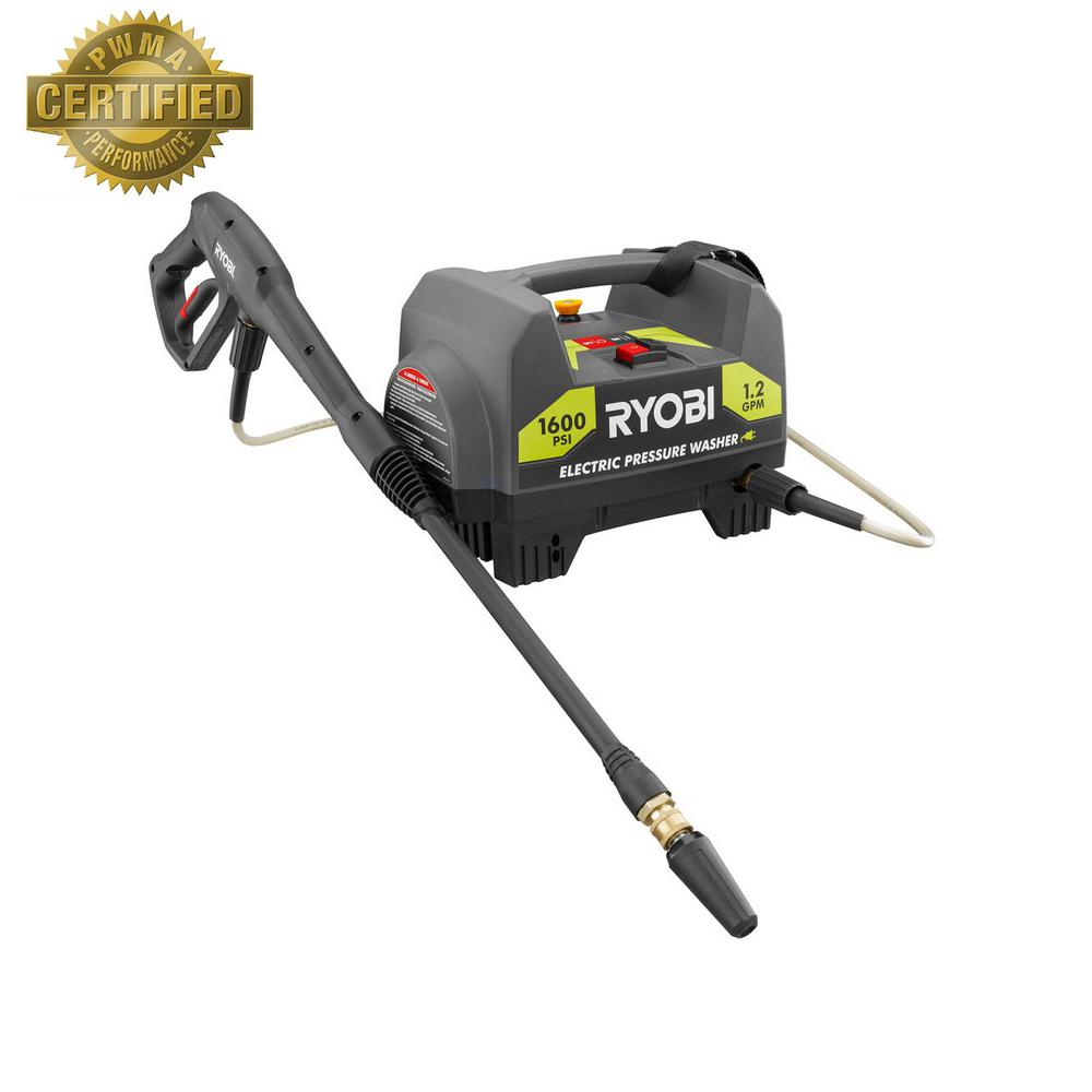 Review of Ryobi 1,600-PSI 1.2-GPM Electric Pressure Washer