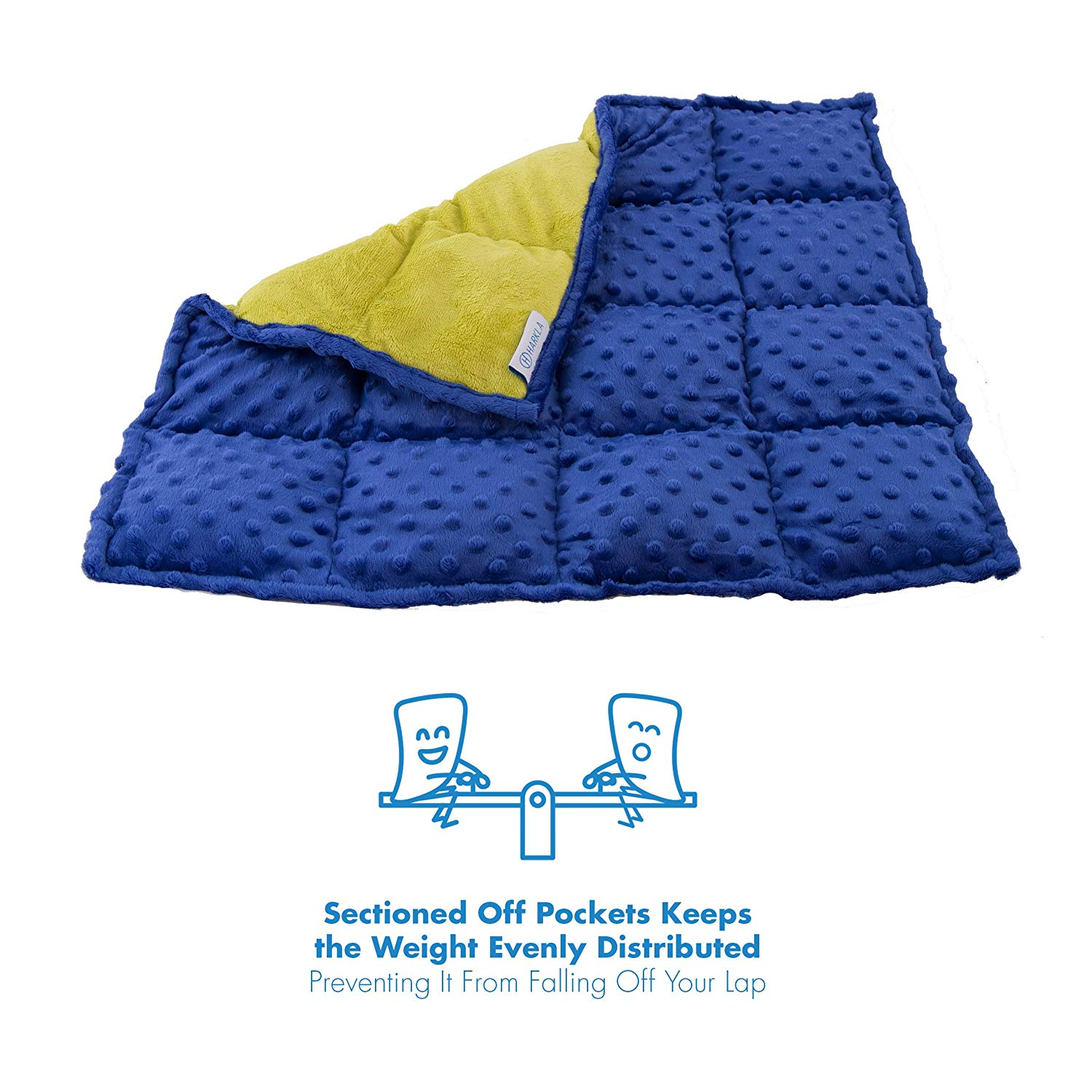 Review of Sensory Weighted Lap Pad for Kids - 5-pounds - Blanket for Children with Autism
